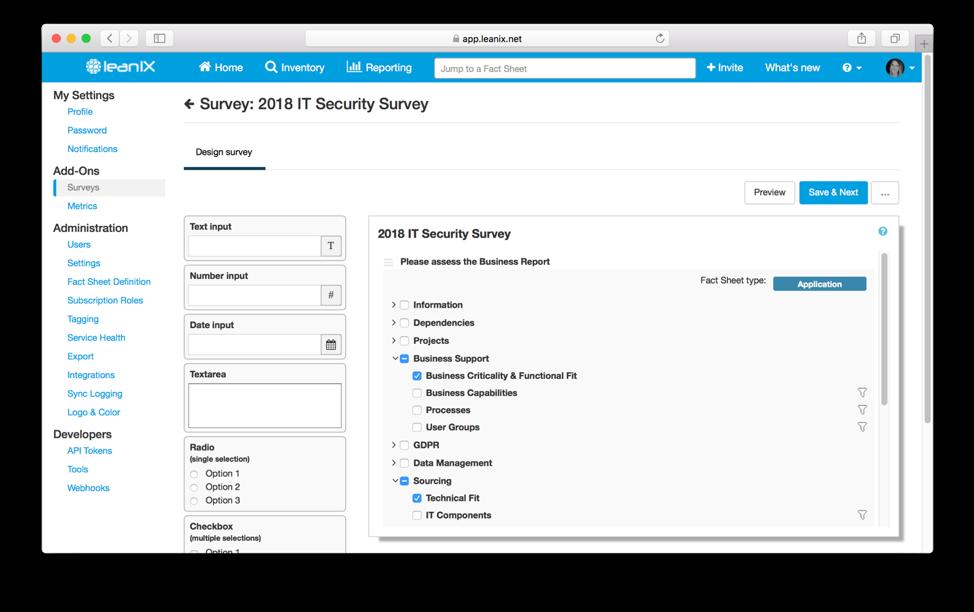 assess technology risk with survey