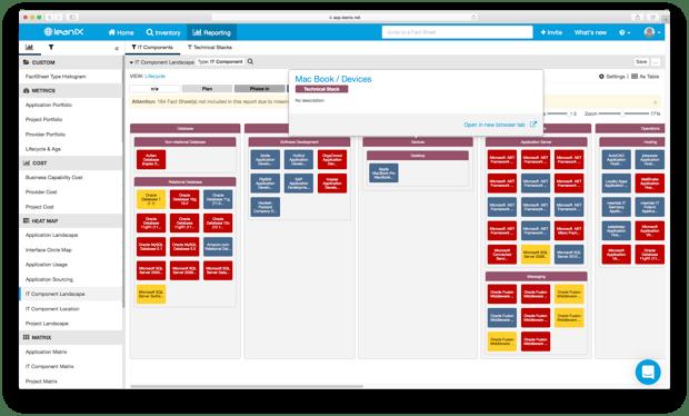 IT Component Landscape Report Devices LeanIX